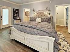 Master bedroom with on suite main level