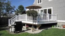Deck area off the dining room