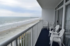 Ocean Front 21 foot Balcony from Living Room and Bedroom