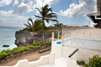 TEACHNSONG,Ocean City Barbados Romantic Caribbean Villa on cliff with Breathtaking view